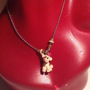Christmas dog necklace